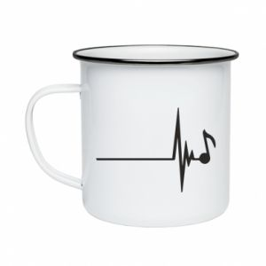 Enameled mug Music