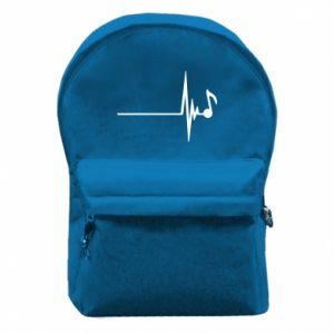 Plecak z przednią kieszenią Muzyka