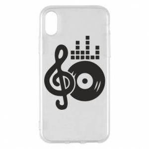 Etui na iPhone X/Xs Muzyka