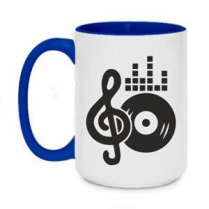 Two-toned mug 450ml Music