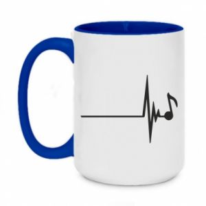 Two-toned mug 450ml Music