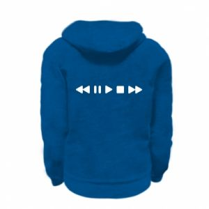 Kid's zipped hoodie % print% Music