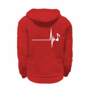 Kid's zipped hoodie % print% Music