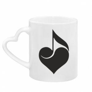 Kubek z uchwytem w kształcie serca Muzyka