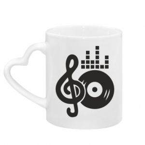 Mug with heart shaped handle Music