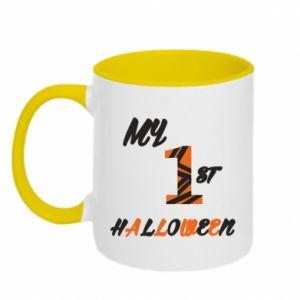 Two-toned mug My 1st halloween - PrintSalon