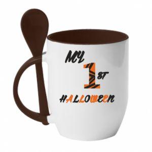 Kubek z ceramiczną łyżeczką My 1st halloween