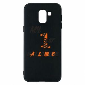 Phone case for Samsung J6 My 1st halloween - PrintSalon