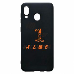 Phone case for Samsung A30 My 1st halloween - PrintSalon