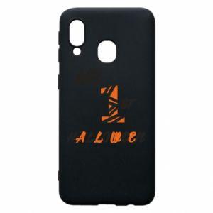 Phone case for Samsung A40 My 1st halloween - PrintSalon