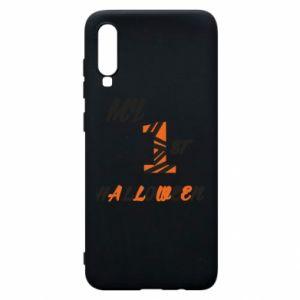 Phone case for Samsung A70 My 1st halloween - PrintSalon