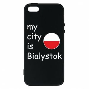 Phone case for iPhone 5/5S/SE My city is Bialystok