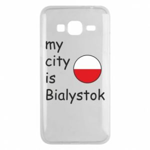 Phone case for Samsung J3 2016 My city is Bialystok