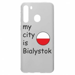 Samsung A21 Case My city is Bialystok