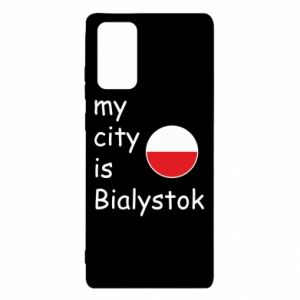 Samsung Note 20 Case My city is Bialystok