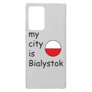 Samsung Note 20 Ultra Case My city is Bialystok