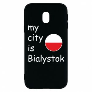 Phone case for Samsung J3 2017 My city is Bialystok