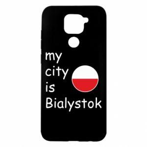 Xiaomi Redmi Note 9 / Redmi 10X case % print% My city is Bialystok