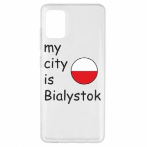 Samsung A51 Case My city is Bialystok