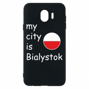 Phone case for Samsung J4 My city is Bialystok