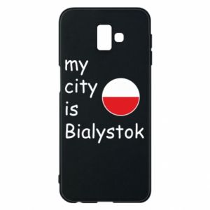 Phone case for Samsung J6 Plus 2018 My city is Bialystok