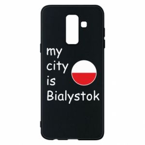 Phone case for Samsung A6+ 2018 My city is Bialystok