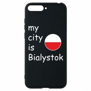 Phone case for Huawei Y6 2018 My city is Bialystok