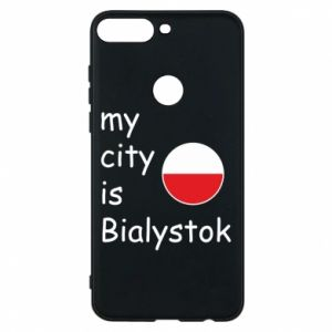 Phone case for Huawei Y7 Prime 2018 My city is Bialystok