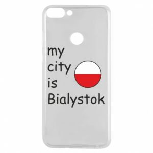 Phone case for Huawei P Smart My city is Bialystok