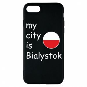Phone case for iPhone 8 My city is Bialystok