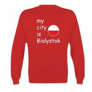 Kid's sweatshirt My city is Bialystok