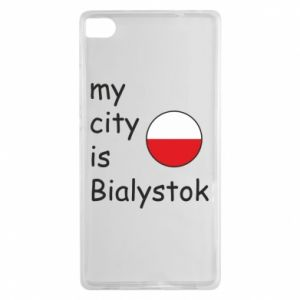 Huawei P8 Case My city is Bialystok