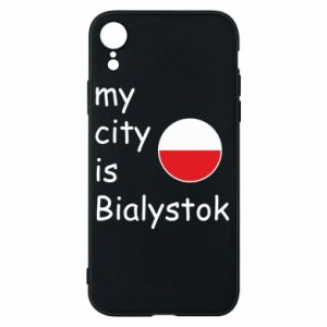 Phone case for iPhone XR My city is Bialystok
