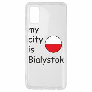 Samsung A41 Case My city is Bialystok