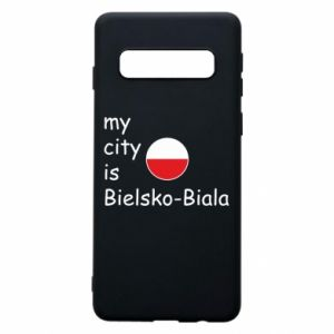 Samsung S10 Case My city is Bielsko-Biala
