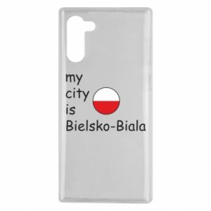 Samsung Note 10 Case My city is Bielsko-Biala