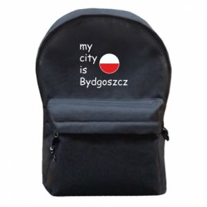 Backpack with front pocket My city is Bydgoszcz