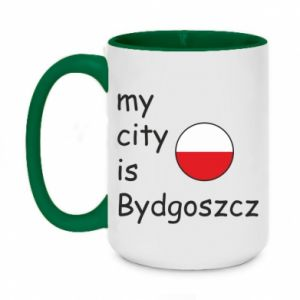 Two-toned mug 450ml My city is Bydgoszcz