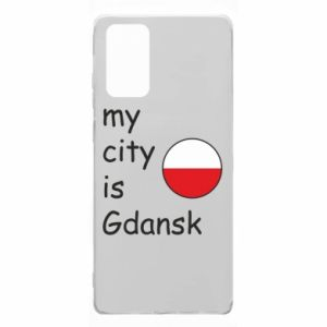 Samsung Note 20 Case My city is Gdansk