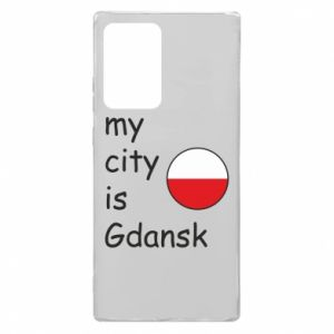 Etui na Samsung Note 20 Ultra My city is Gdansk