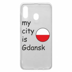 Phone case for Samsung A30 My city is Gdansk