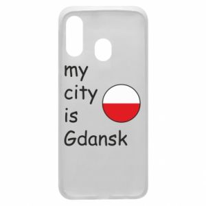 Phone case for Samsung A40 My city is Gdansk