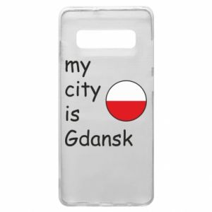 Phone case for Samsung S10+ My city is Gdansk