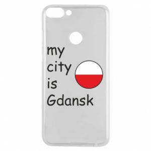 Phone case for Huawei P Smart My city is Gdansk