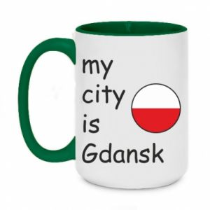 Two-toned mug 450ml My city is Gdansk