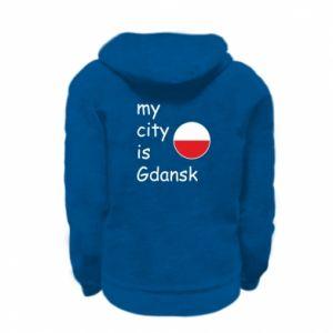 Kid's zipped hoodie % print% My city is Gdansk