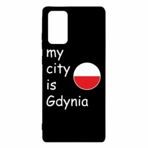 Samsung Note 20 Case My city is Gdynia
