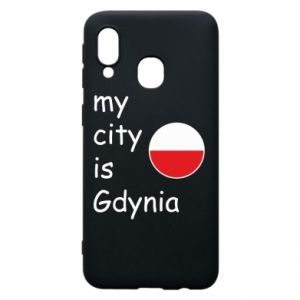 Etui na Samsung A40 My city is Gdynia - PrintSalon