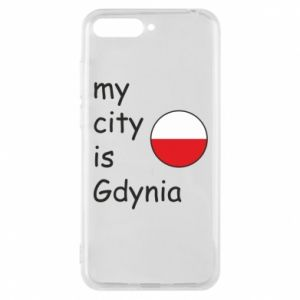 Etui na Huawei Y6 2018 My city is Gdynia - PrintSalon
