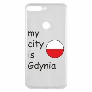 Etui na Huawei Y7 Prime 2018 My city is Gdynia - PrintSalon